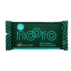 Nooro Sour Cherry and Dark Chocolate CBD Snack Bar