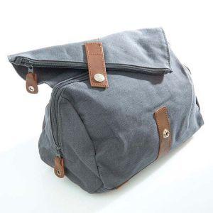Hemp Travel Wash Bag / Toiletries Bag - Slate Grey