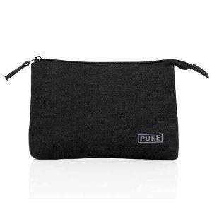 Hemp Canvas Accessory Bag - Black