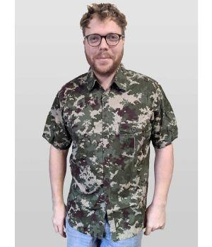 Hoodlamb Cannaflage Organic Hemp Short Sleeve Shirt - on Model
