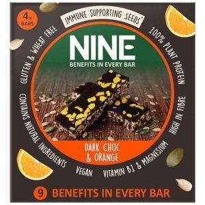 NINE Bar Dark Chocolate and Orange - 4 Pack