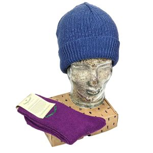 Organic Beanie Hat and Socks Gift Set - Choose Your Own Colours