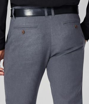Sustainable Chino Trousers - Wooden Buttons on Rear Pockets