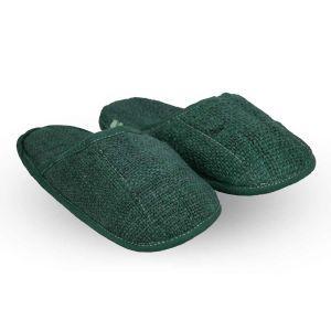 Hemp Slippers - Dark Green