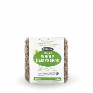 Hempiness Organic Premium Whole Hemp Seed 250g Front