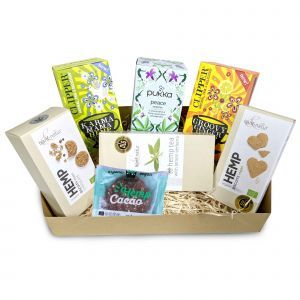 Herbal Hemp Tea and Biscuits Gift Box