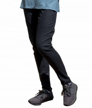Slim Fit Hemp Trousers - Black