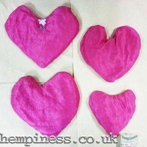 Hemp Silk Organic Lavender Heart Pillows