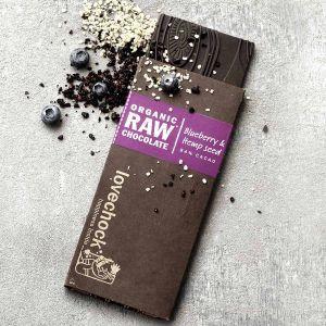 Blueberry Hemp Seed Vegan Chocolate
