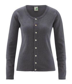 Eco Friendly Recycled Hemp Womens Cardigan - Slate Grey