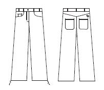 Daily Trousers Black Design