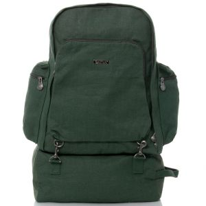 Organic Hemp Eco-Friendly Outdoor Backpack - Forest Green