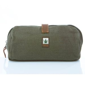 Hemp Cosmetics Case / Pencil Case - Army Khaki