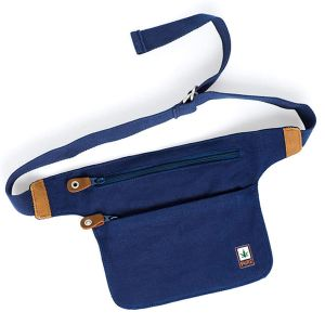 Hemp Body Belt Bag - Keep Your Valuables Safe - Blue