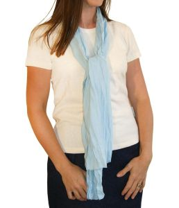 Crinkle Scarf China Blue