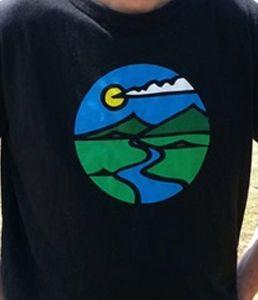 Organic Mountain Print Hemp Boys T-shirt