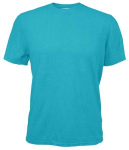 Hemp Short Sleeve T Shirt - Bahama Blue