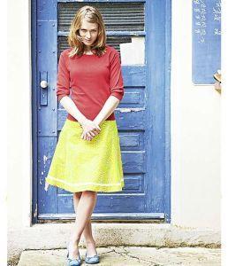 Organic Sunshine Yellow Hemp Skirt
