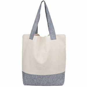 Recycled Hemp Tote Bags / Shopping Bags - White/Grey