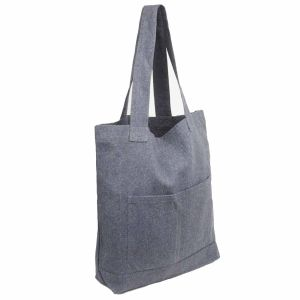 Recycled Hemp Tote Bags / Shopping Bags - Grey