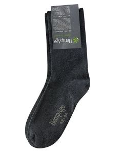 Organic Hemp & Cotton Socks - Black