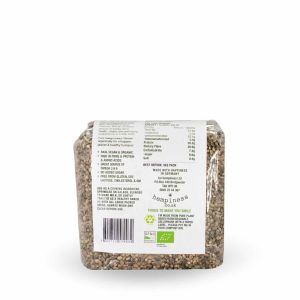 Hempiness Organic Premium Whole Hemp Seed 250g Back