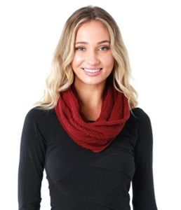Hemp Loop Knit Scarf - red