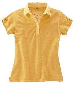Ladies Hemp Jersey Polo Shirt - Citrus Orange