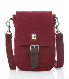 Organic Hemp Medium Shoulder Bag - Bordeaux Red