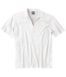 Organic Hemp Polo Shirt White