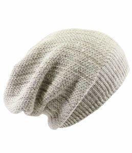 Hempiness Organic 100% Hemp Slouch Beanie Hat - Natural
