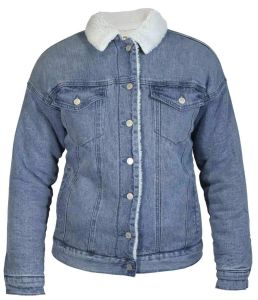 Hoodlamby by Hemp Tailor Womens Sherpa Denim Jacket
