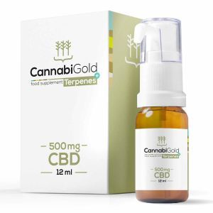CannabiGold Terpenes+ CBD Oil 500mg Packaging and Bottle