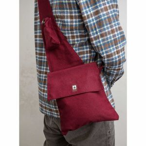 Hemp Cross Over Bag Bordeaux