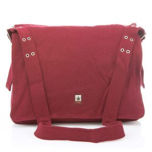 Hemp Messenger Bag - Rosewood Red
