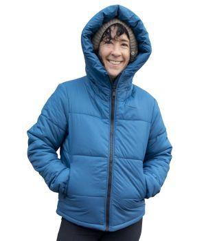 Hoodlamb by Hemp Tailor Puffer Jacket - Blue
