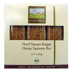 Hemp seed and sesame seed snack bar