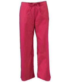 Hempiness Organic Hemp Drawstring Pants - Tulip Red