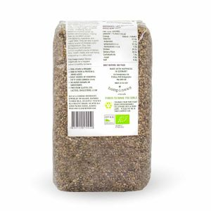 Hempiness Organic Premium Whole Hemp Seed 500g Back