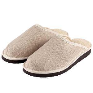 Organic Hemp & Merino Wool slippers-Natural