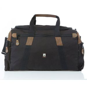 Sustainable Organic Hemp Holdall - 54L - Obsidian Black