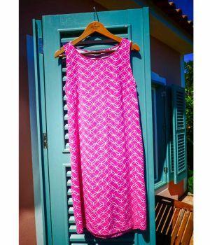 Organic Sleeveless Dress - Pink