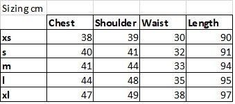 Party Dress Sizing